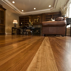 beautiful hardwood floors in a living room