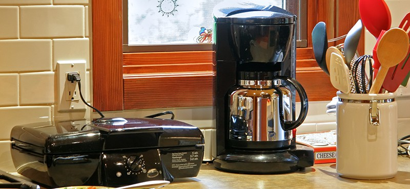 small countertop appliances and utensils