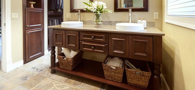 showplace bathroom vanity dark brown