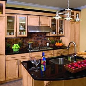 tuscany maple kitchen cabinets photo
