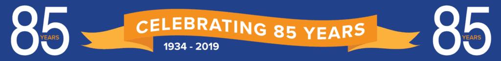 85 year anniversary banner