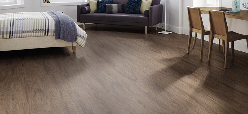 luxury vinyl plank flooring in a bedroom