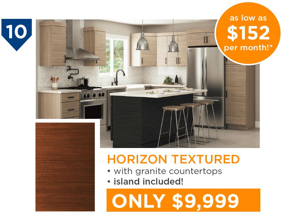 10 Kitchens Under $10,000 - #10 Horizon Textured Kitchen