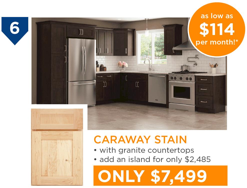 10 Kitchens Under $10,000 - #6 Caraway Stain Kitchen