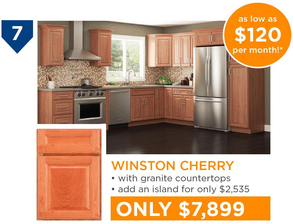 10 Kitchens Under $10,000 - #7 Winston Cherry Kitchen