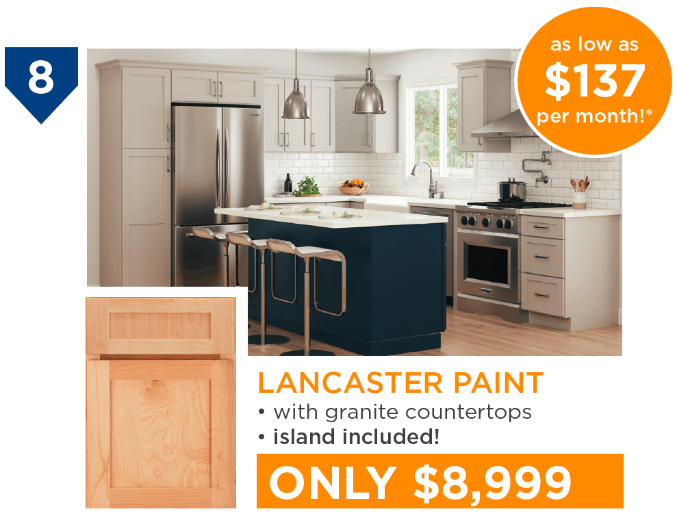 10 Kitchens Under $10,000 - #8 Lancaster Paint Kitchen