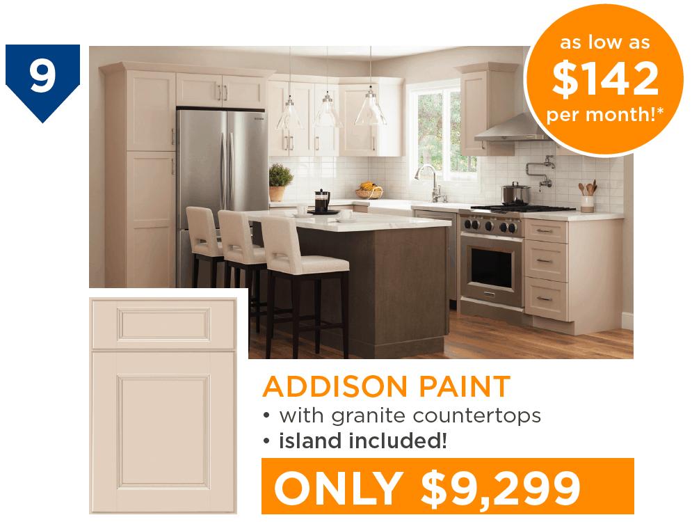 10 Kitchens Under $10,000 - #9 Addison Paint Kitchen