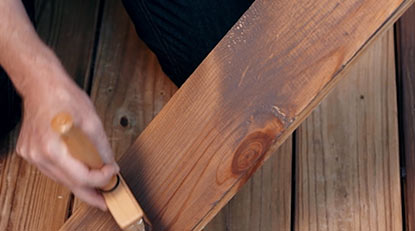 testing deck stain
