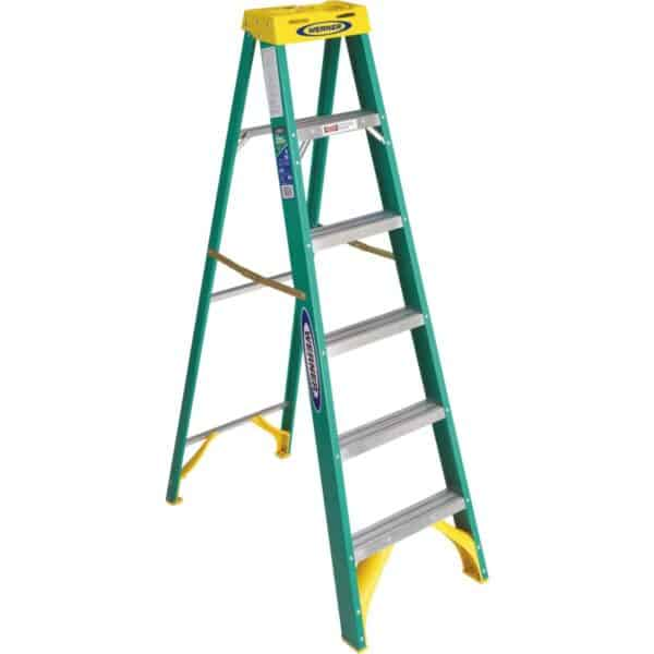 Werner 6 Ft. Fiberglass Step Ladder Type 2