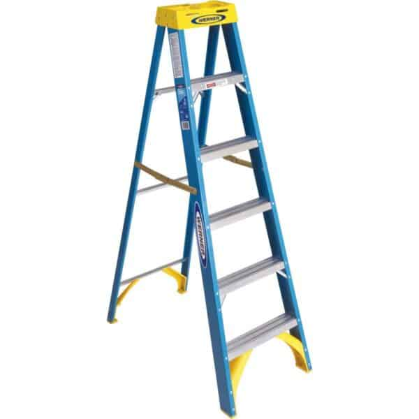 Werner 6 Ft. Fiberglass Step Ladder Type 1