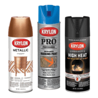 metallic paint, marking paint and high heat spray paint