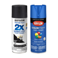 Rustoleum 2X ultra cover spray paint, Krylon colormaxx spray paint
