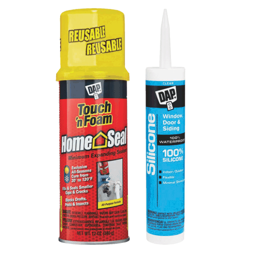 foam sealant and silicone sealant