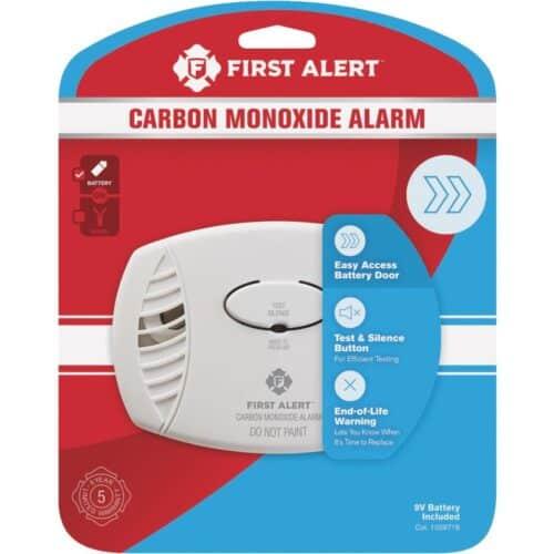 First Alert Carbon Monoxide Alarm in retail packaging