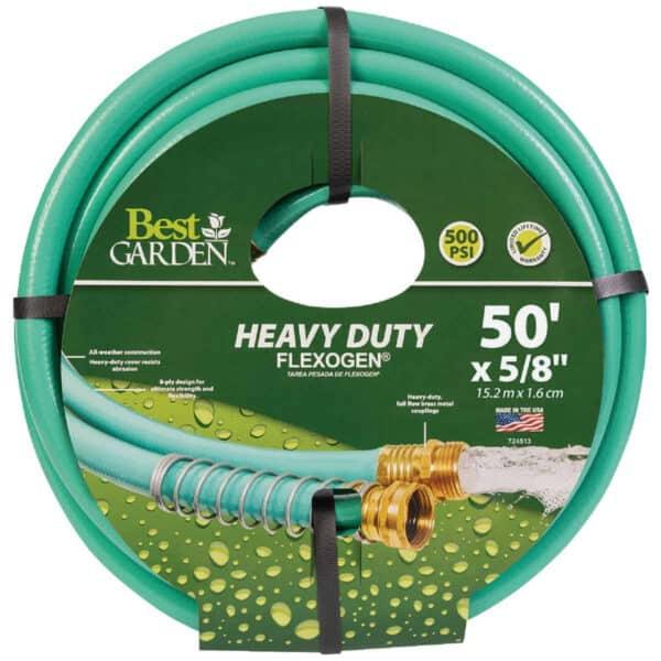 50' Heavy Duty Flexogen Green Hose