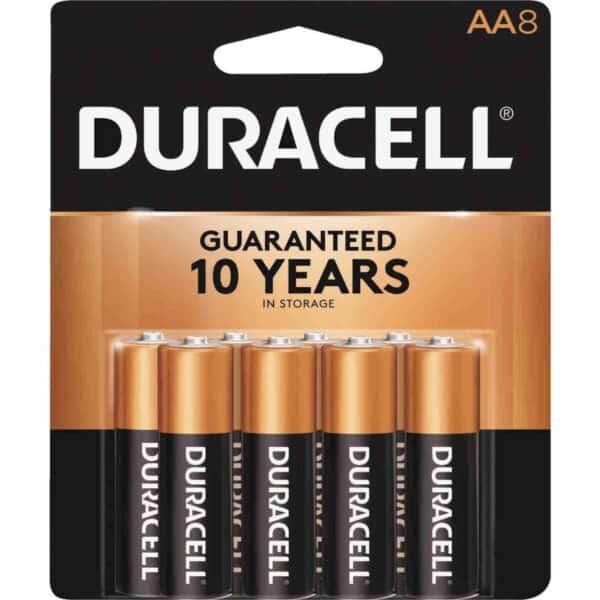 8-Pk. Alkaline Batteries