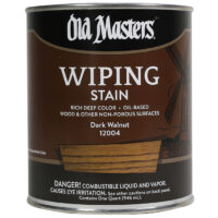 a gallon of old masters wiping stain in dark walnut